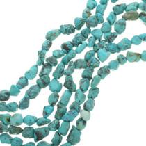 Tibetan Turquoise Nugget Bead Strand 30801