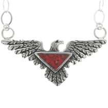 Red Coral Eagle Pendant 30782