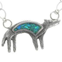 Opal Coyote Pendant