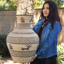 Hand Woven Apache Basket Weaving