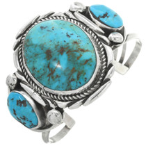 Old Pawn Turquoise Silver Bracelet 30908