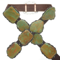 Vintage Hachita Turquoise Concho Belt 30927