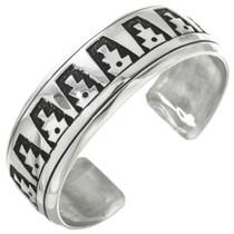 Overlaid Silver Tommy Rose Singer Navajo Bracelet 30947