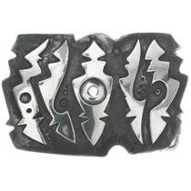 Vintage Navajo Silver Belt Buckle 30958