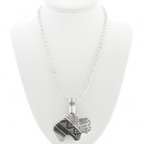 Sterling Silver Overlay Buffalo Necklace 30960