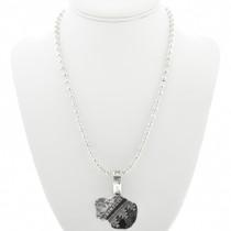 Native American Silver Buffalo Necklace 30962