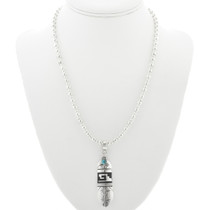 Feather Pendant With Bead Necklace 30964