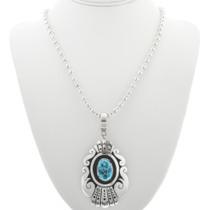 Native American Southwestern Style Silver Necklace 30967