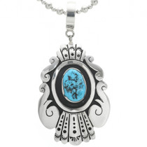 Sterling Silver Turquoise Pendant 30967
