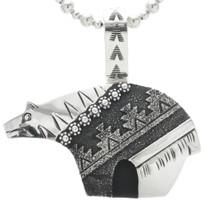 Navajo Sterling Silver Bear Pendant 30968