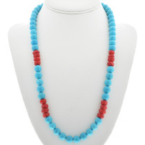 Turquoise Coral Bead Necklace 31007