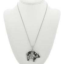 Overlay Sterling Silver Kachina Pendant 31018