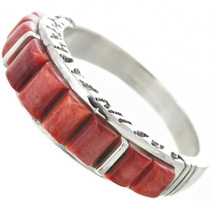 Vintage Coral Silver Ring 31025