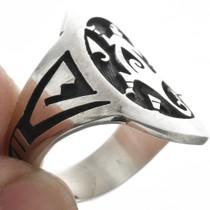 Hopi Overlaid Lizard Design in Sterling Silver