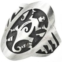 Vintage Hopi Sterling Silver Mens Ring