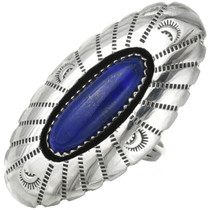 Sterling Silver Lapis Ring 31035