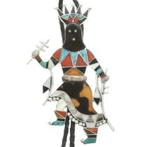 Zuni Apache Crown Dancer Bolo Tie 31042