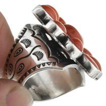 Vintage Native American Coral Ring 31044