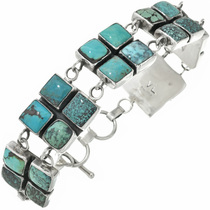 Vintage Navajo Turquoise Link Bracelet 31047
