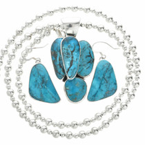 Ithaca Peak Turquoise Necklace Earrings Set 31050