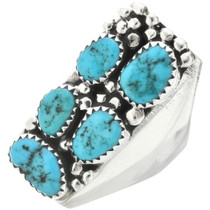 Sleeping Beauty Turquoise Mens Ring 31055