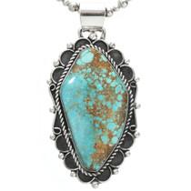 Vintage Turquoise Navajo Pendant 31060