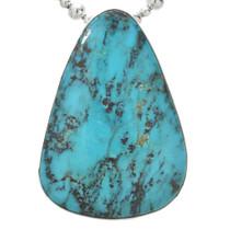 Vintage Navajo Turquoise Silver Pendant 31064