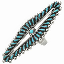 Zuni Turquoise Needlepoint Ring 31065