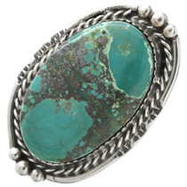 Vintage Turquoise Silver Navajo Ring 31066