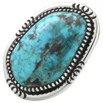 Vintage Turquoise Silver Navajo Ring 31069