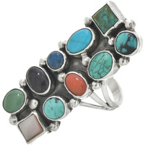 Vintage Turquoise Coral Ring 31075