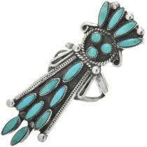 Zuni Turquoise Kachina Ring 31078