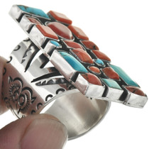 Western Coral Silver Ring 31079