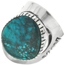 Navajo Turquoise Silver Ring 31080