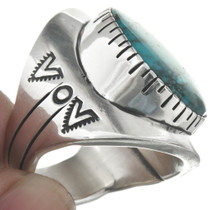 Native American Blue Diamond Turquoise Ring 31080