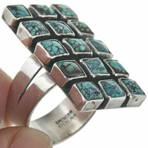 Cluster Turquoise Native American Ring 31084