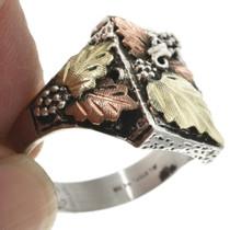 Gold Leaf Design Mens Ring 31088