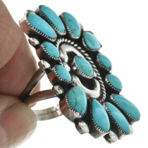 Vintage Turquoise Cluster Ring 31090