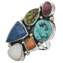 Turquoise Lapis Silver Ring 31091