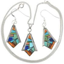 Turquoise Pendant Earring Set 31094