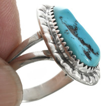 Native American Turquoise Silver Ring 31095