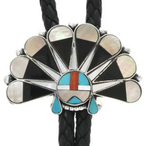 Turquoise Zuni Inlay Bolo Tie 31104