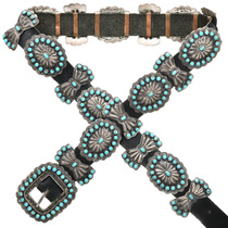 Vintage Turquoise Concho Belt 31108