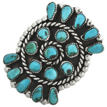 Vintage Turquoise Cluster Ring 31110