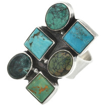 Vintage Silver Turquoise Ring 31119