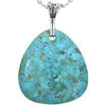 Turquoise Pendant Silver Bail 31122