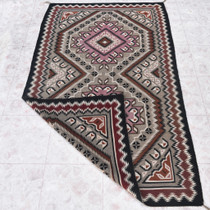 Vintage Two Grey Hills Navajo Rug 31129