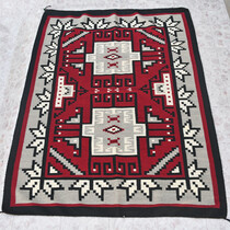 Vintage Navajo Ganado Wool Rug 31136