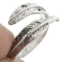 Sterling Silver Feather Bypass Ring 31141