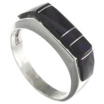 Vintage Inlaid Silver Zuni Ring 31143